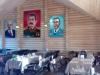 Портреты вождей в ресторане