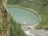 Вид на озеро с Панорамы на Военно-Грузинской дороге