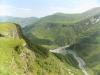 Вид с Панорамы на Военно-Грузинской дороге.