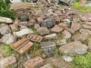 Обломки разрушенной старой церкви