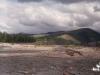 Июль 1999 г. Остановка на реке Бургагчан. Вдали виден пик горы Бургагчан.